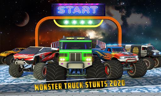 Monster Truck Mega Ramp Stunts Extreme Stunt Games screenshots 2