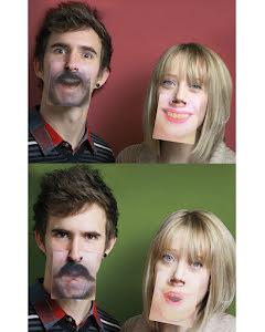 Face mats glasunderlägg, 3D-ansikten