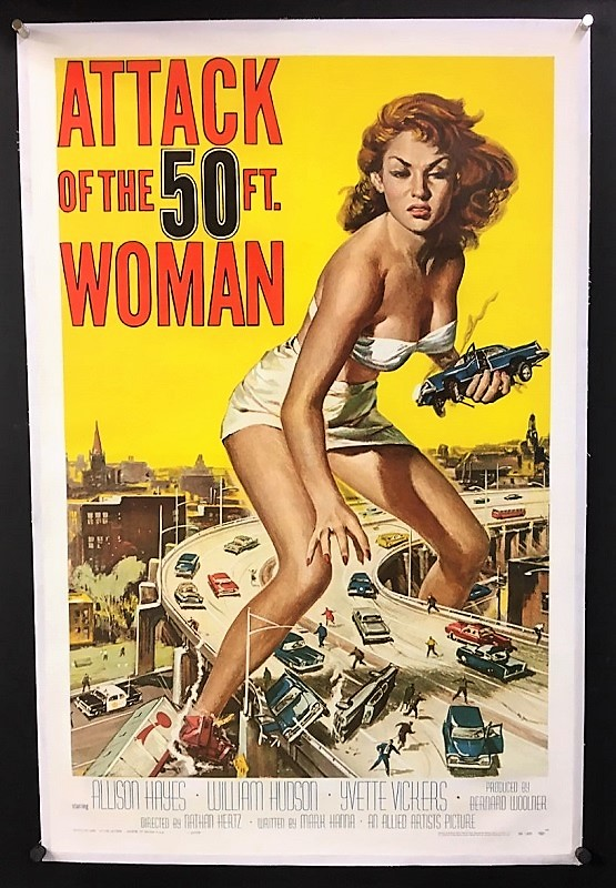 attack of the 50ft woman film poster