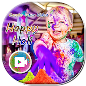 Happy Holi Photo Video Maker