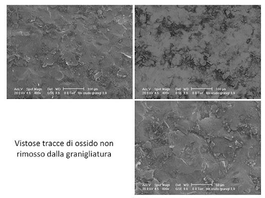 Fig. 2 – Risultato delle prove sulla granigliatrice