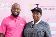 Thato Molamu (L) and Bathabile Dlamini (R)