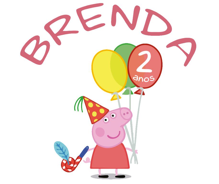 estampa personalizada tema Peppa Pig - festa de aniversário