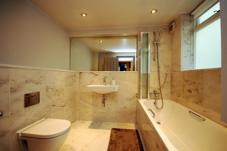 Bathroom at Cleveland Street Serviced Apartments, Fitzrovia