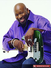 Photo: Wayman Tisdale with his guitar.