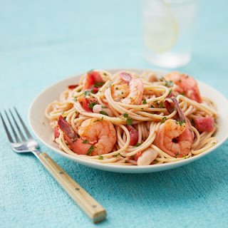 Garlicky Shrimp and White Beans