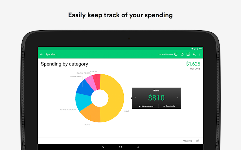Screenshot 7 for Mint's Android app'
