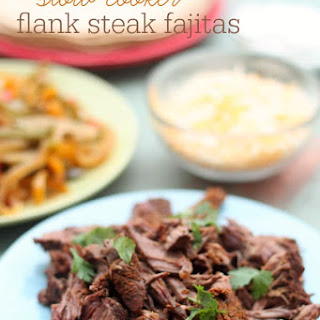 Slow Cooker Flank Steak Fajitas from 100 Days of Real Food.