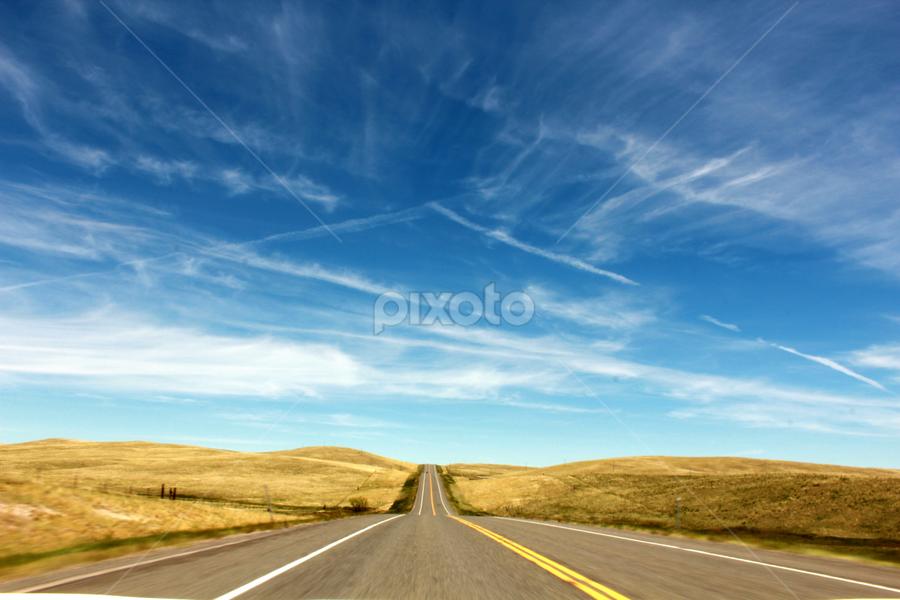 Montana Highway by Shane Vandenberg - City,  Street & Park  Street Scenes