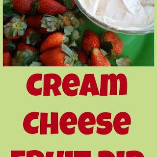 Easy Cream Cheese Fruit Dip.