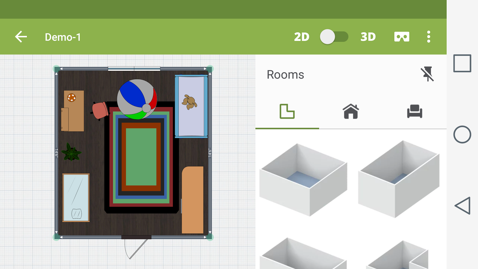 Kids room design android apps on google play for Room design 3d app