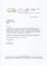 Photo: Letter from Leonard Morgan, 1976