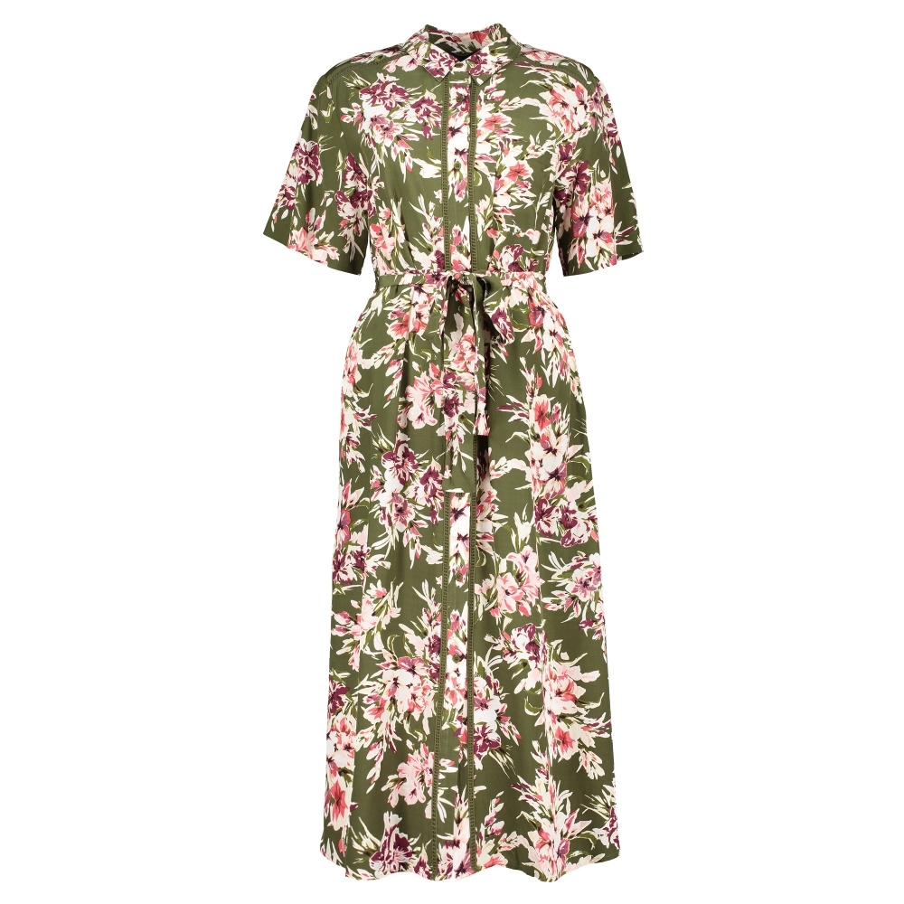 FRENCH CONNECTION Floriana Drape Floral Midi Dress