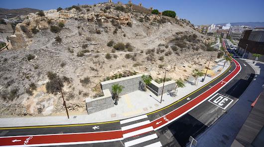 Así es la nueva calle Pósito, conexión de Puerta Purchena con La Alcazaba