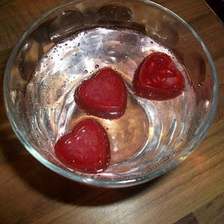 Peach Melba Ice Cubes