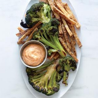 Broccoli Steaks with Tofu Fries.