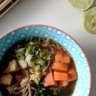Soba Noodles Tofu Soup