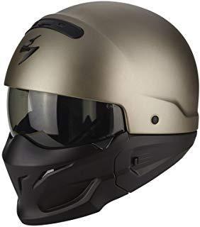 Casco de moto Exo Combat Solid de Scorpio de titanio, talla XL