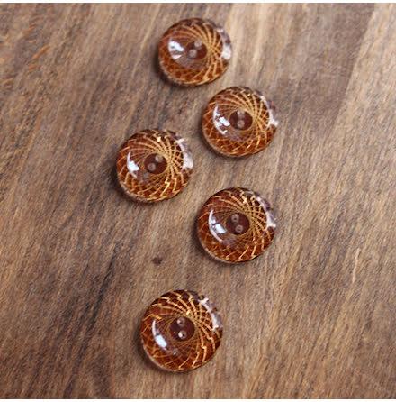 Mönstrad, 21mm - brun/guld