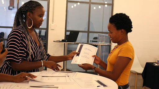 CapaCiTi students receive a certificate at the end of their ICT training programme.