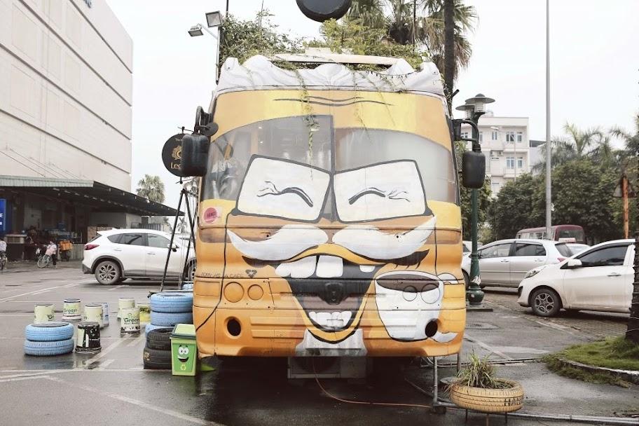 MÔ HÌNH CAFE BUS