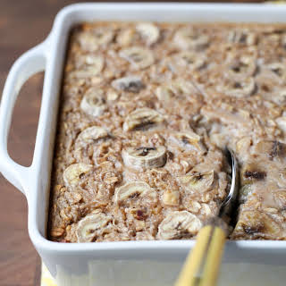 Banana Bread Baked Oatmeal.