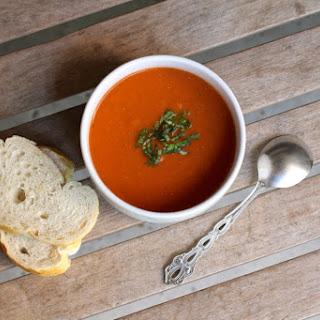 Creamy Tomato Basil Soup Revamped.