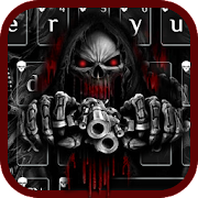 App Red Blood Skull Guns keyboard theme APK for Windows Phone