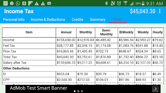 Canadian Income Tax Calculator Android Apps on Google Play – Self Employed Income Calculation Worksheet