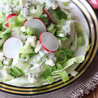 Crunchy Iceberg Salad with Homemade Creamy Roquefort Dressing