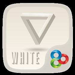 White GO Launcher Theme