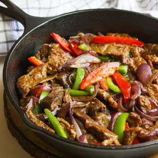 Pepper Steak with Onions.
