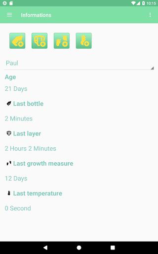 MesureBib - Baby diary (Bottles, diapers and more) 3.3 screenshots 8