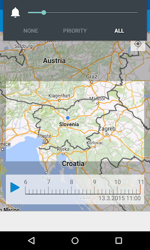 Deu017e - Slovenian rain radar 16.1 screenshots 1