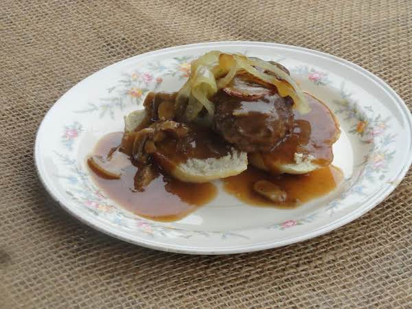 Open Face Hamburger Steak Sandwich Recipe