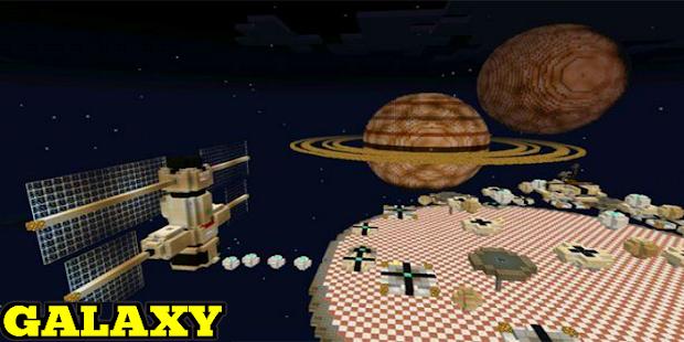 Galaxy Space Mod mcpe - náhled