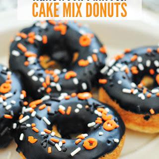 Halloween Cake Mix Donuts.