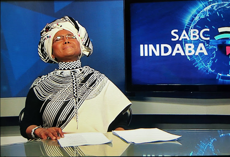 Noxolo Grootboom presented her final Xhosa news bulletin on Tuesday evening.