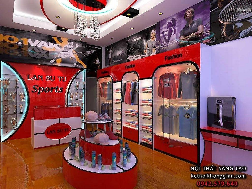 thiết kế nội thất shop thời trang thể thao