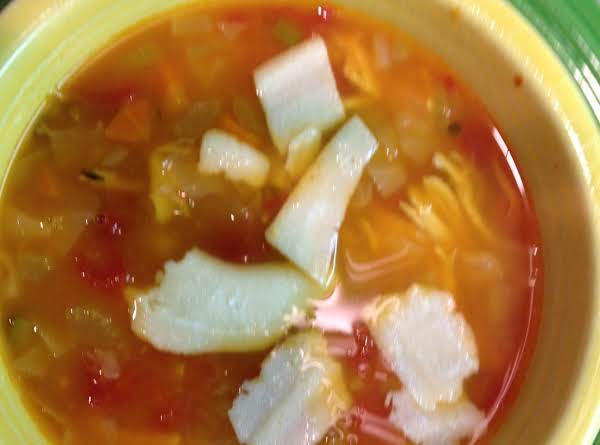 Chicken Minestrone Soup With Fresh Shaved Parmesan Cheese