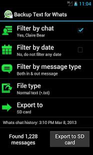 Backup Text for Whats- screenshot thumbnail