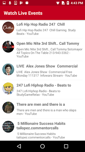 Watch Live TV Events 1.2 screenshots 13