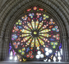 Photo: The main window at the rear of the church