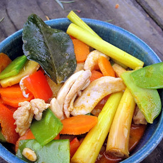 Thai Red Curry Chicken with Veggies.