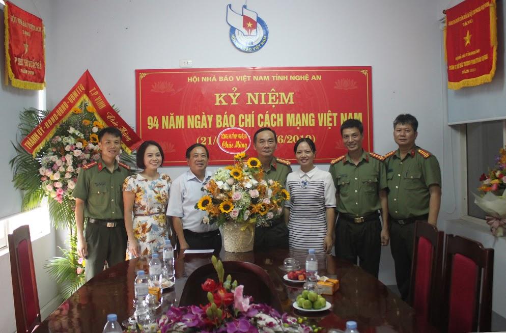 Công an tỉnh Nghệ An chúc mừng Hội nhà báo Việt Nam tỉnh Nghệ An