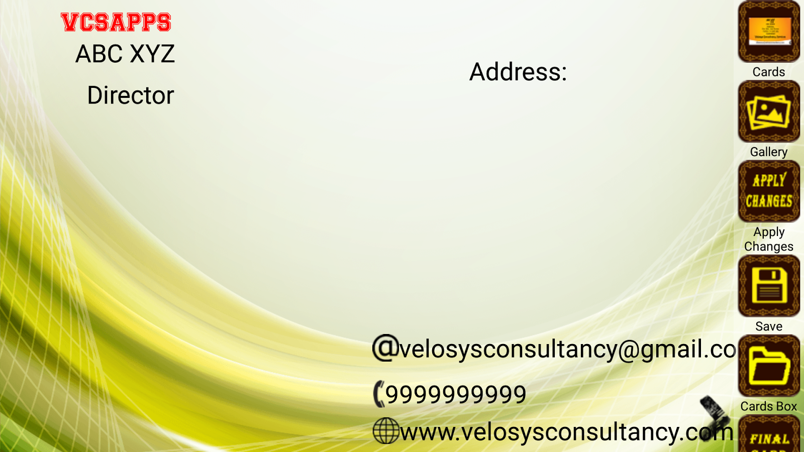 Visiting Card Maker - HD- screenshot