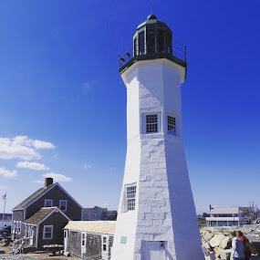 Scituate lighthouse by Ann Goldman - Buildings & Architecture Public & Historical ( southshore, lighthouse, massachusetts, scituate )