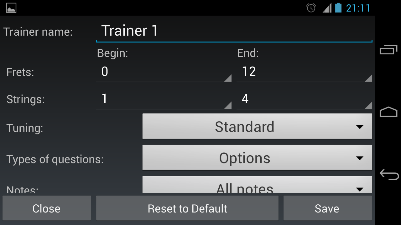 Bass Guitar Note Trainer- screenshot