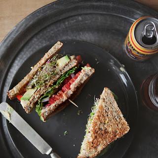 Hummus & Veggie Club Sandwich.