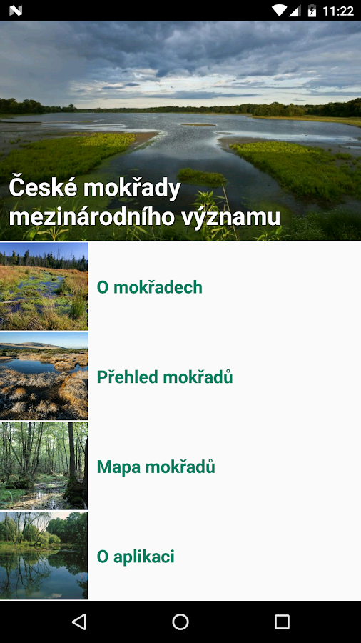 Mokřady- screenshot